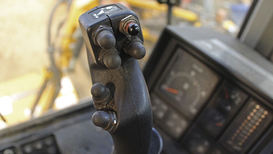 Control lever buttons