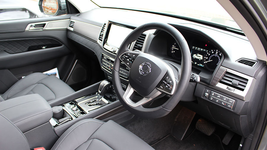 The interior of the Ssangyong Rexton