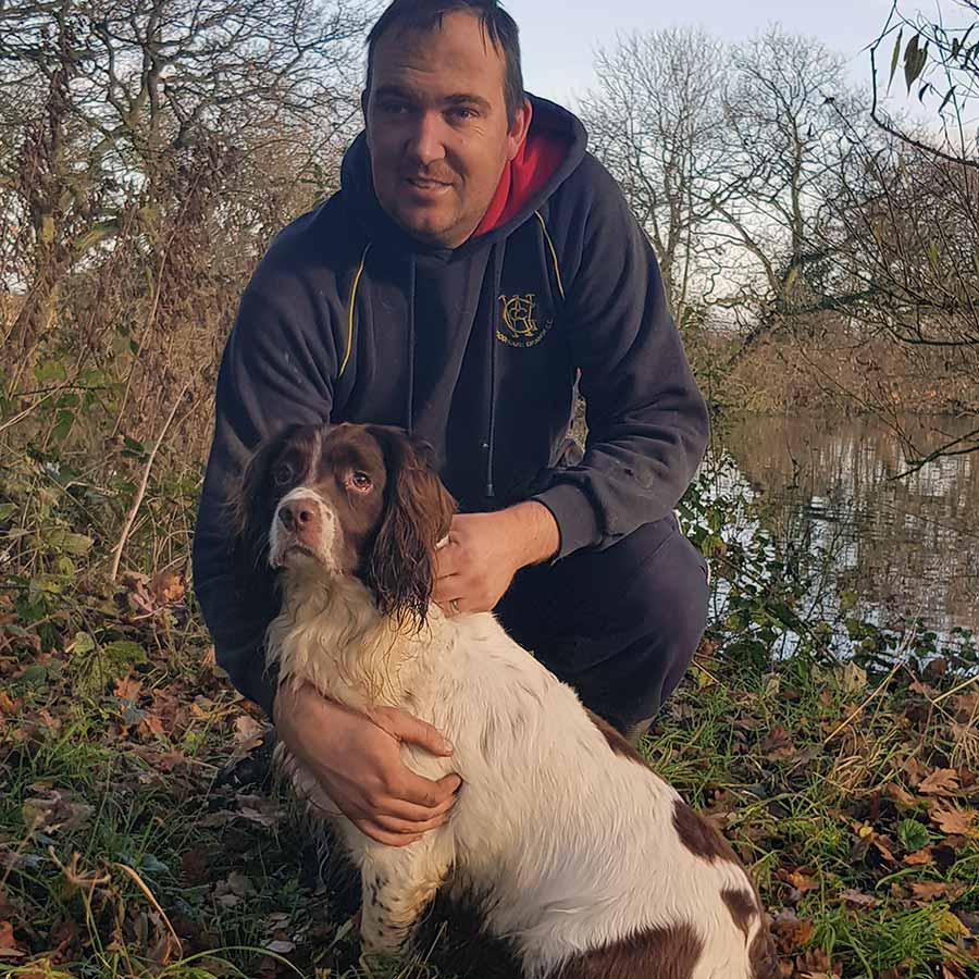 Neil Barrett with dog
