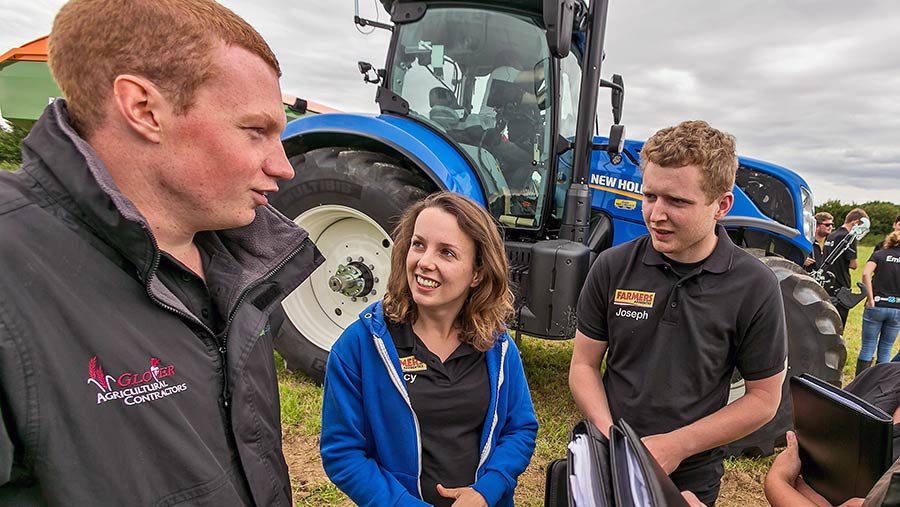 Joe Weston on day two of Farmers Apprentice bootcamp © Richard Stanton