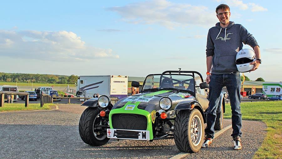 Jamie Stokes with his Caterham 7 © Oli Hill/RBI