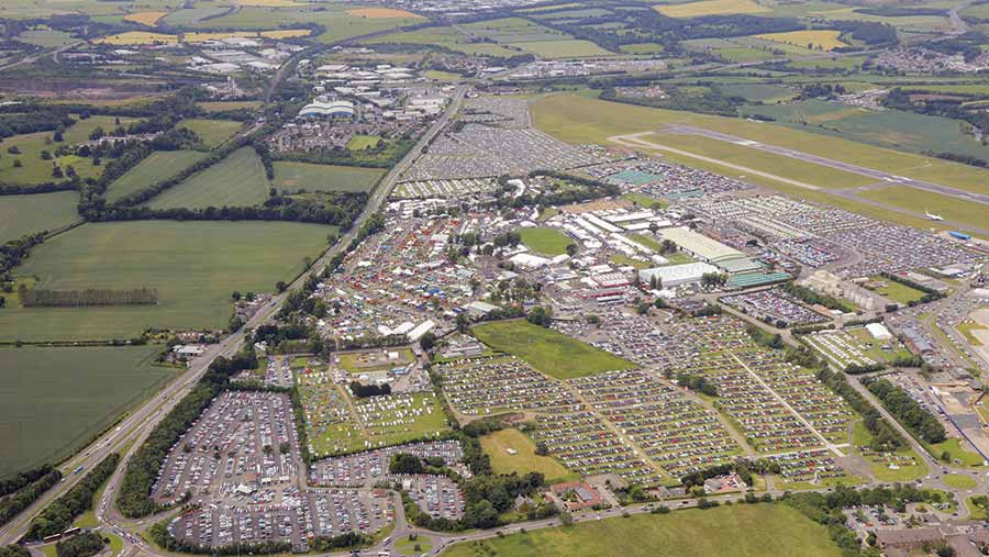 Aerial view of Royal Highland Show