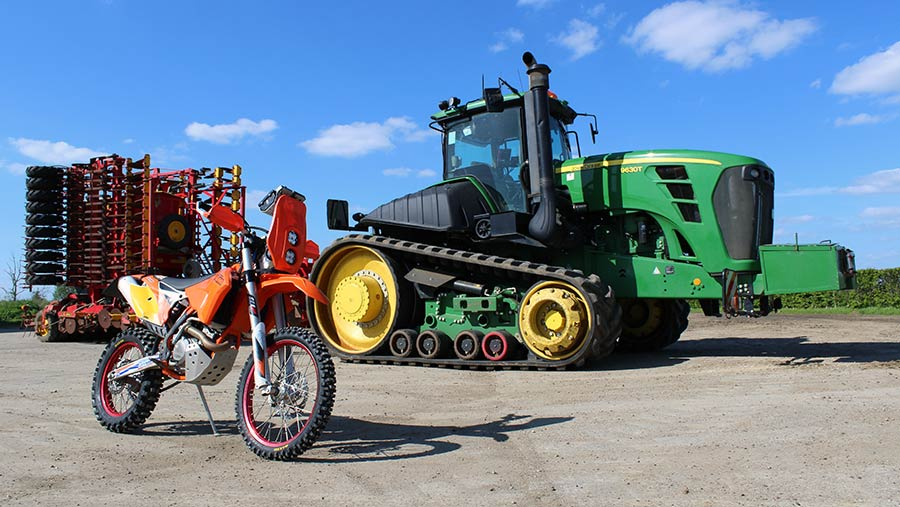 John Haynes' motorbike © Oli Hill/RBI