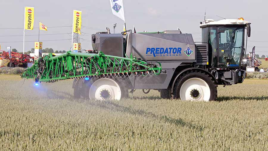 Sprayer in action at cereals