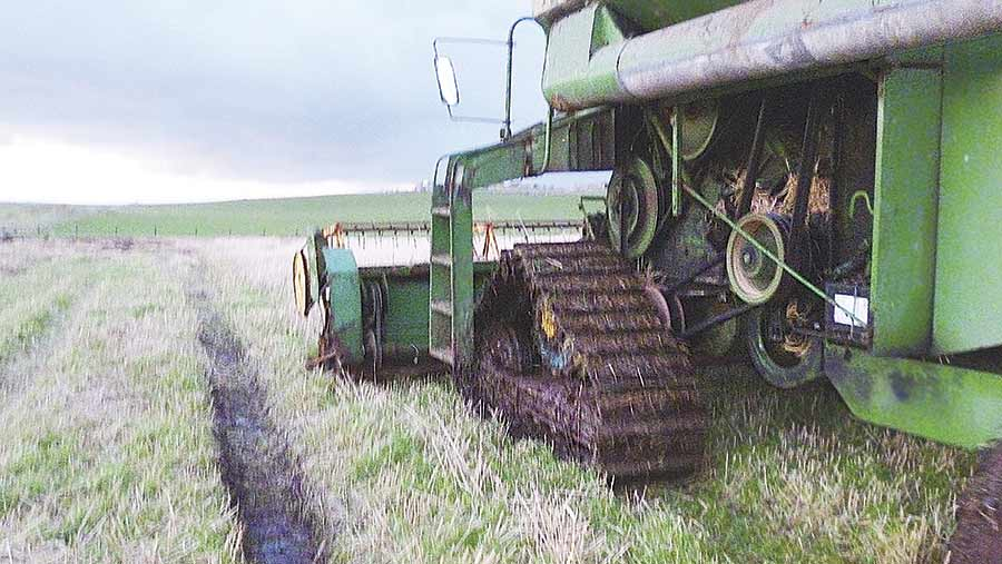 Harvester on tracks