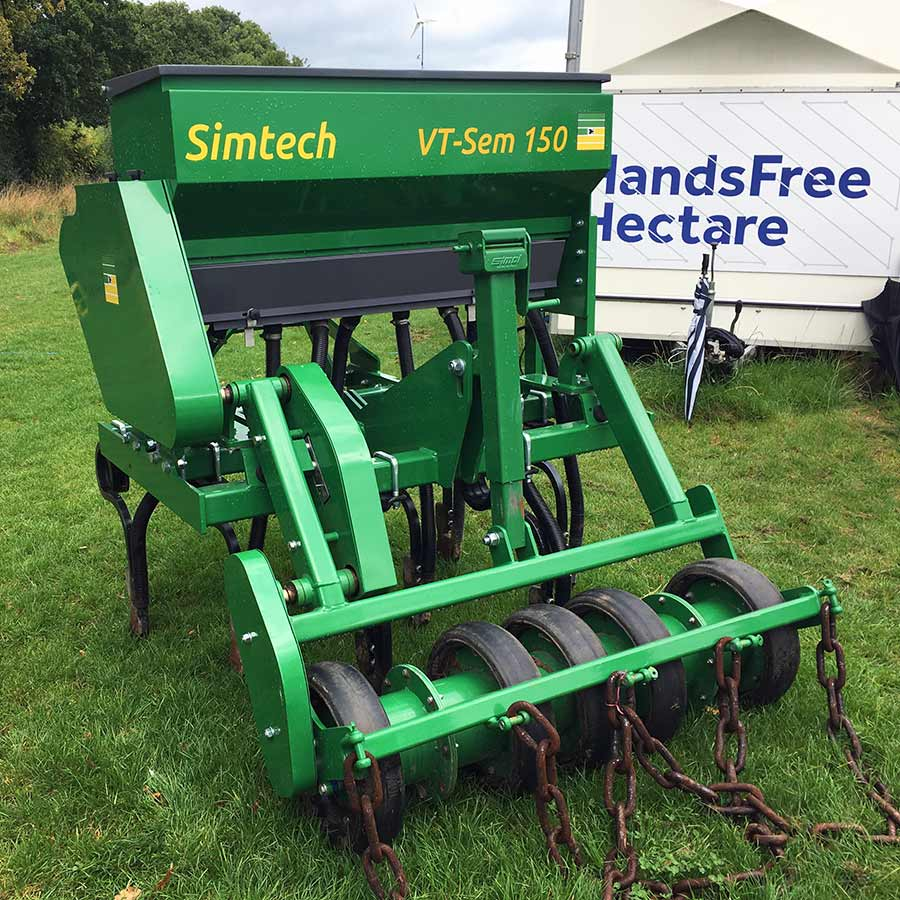 The 1.5m Simtech direct drill used to drill the Hands Free Hectare spring barley crop