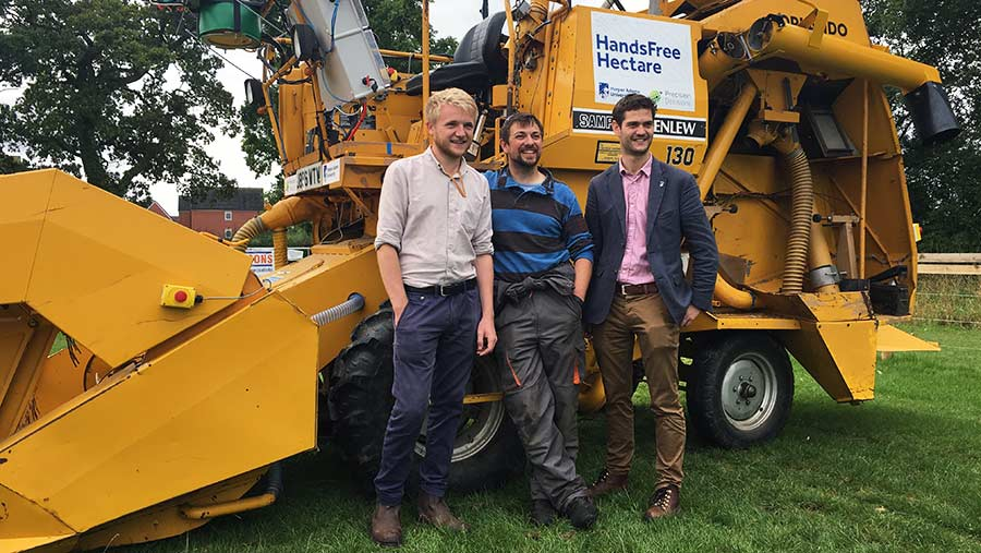 From left: Martin Abell of Precision Descisons, robotics engineer Jonathan Gill and project leader Kit Franklin