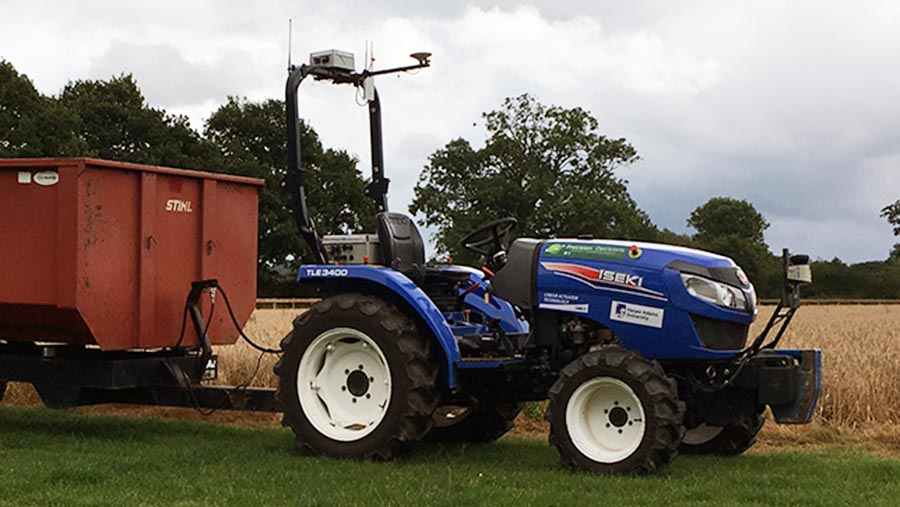 The Hands Free Hectare autonomous tractor