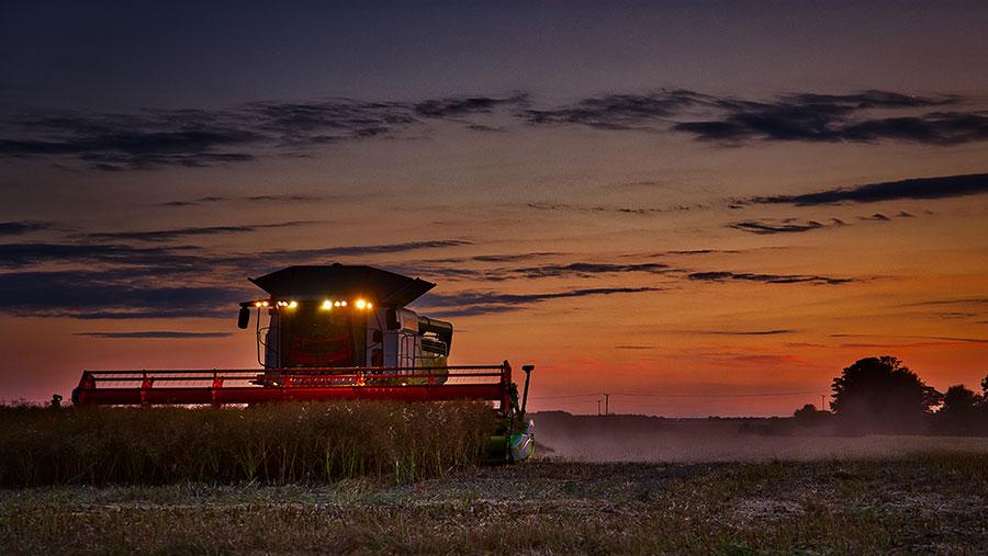 Harvest sunset © Carl Grundy