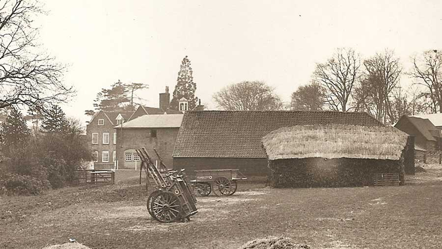 A black-and-white photograph showing the Grove in Harpenden