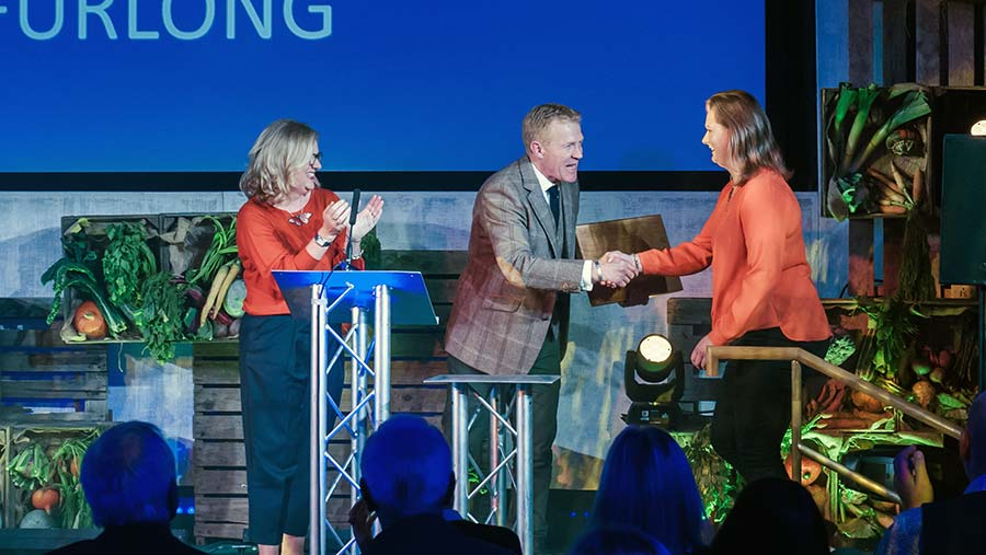 Vicky Furlong with Adam Henson and Charlotte Smith © Artur Tixiliski/BBC
