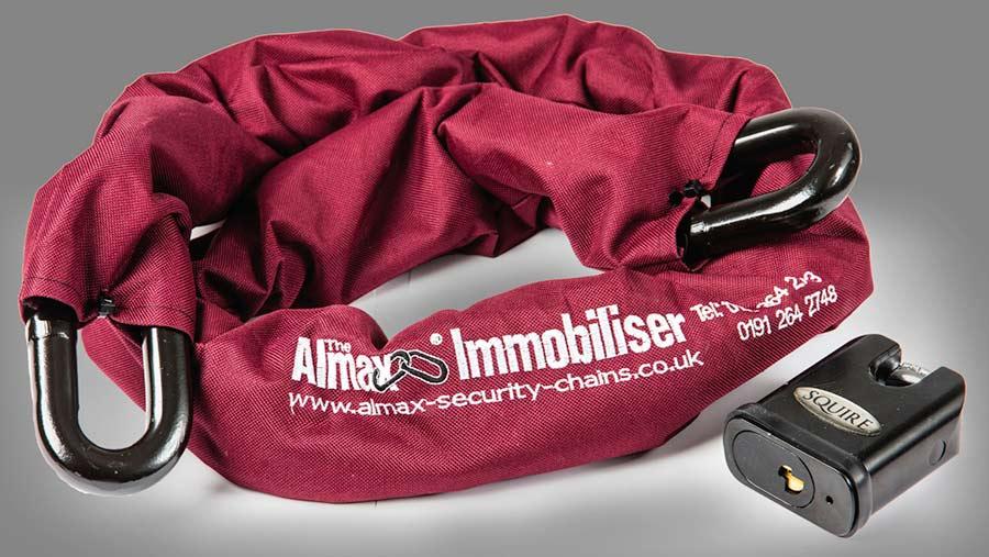 Almax immobiliser chain