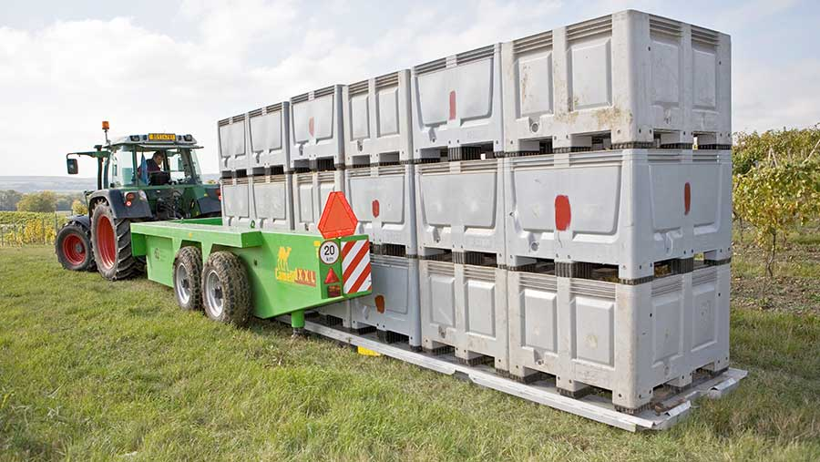 Camelid self-loading box trailer