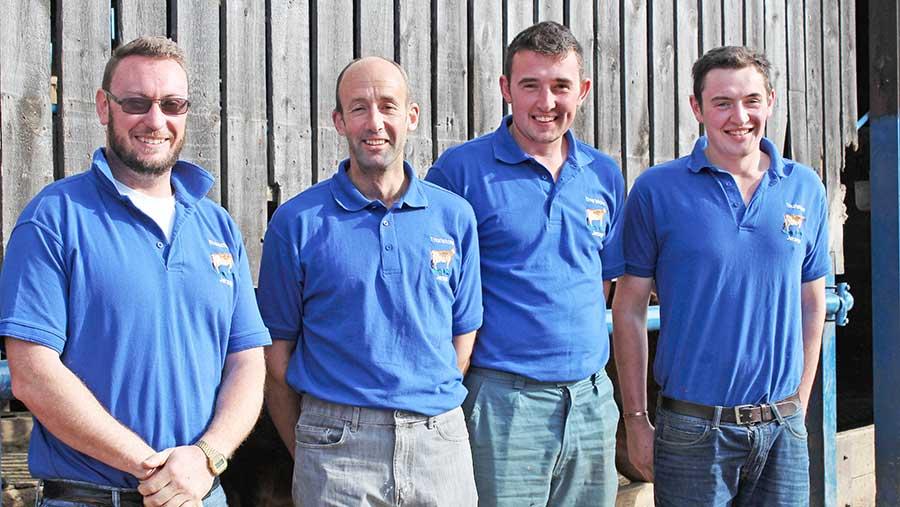 Thomas Dickinson, Richard Saxby, Andrew Jannings and Josh Szczoczarz
