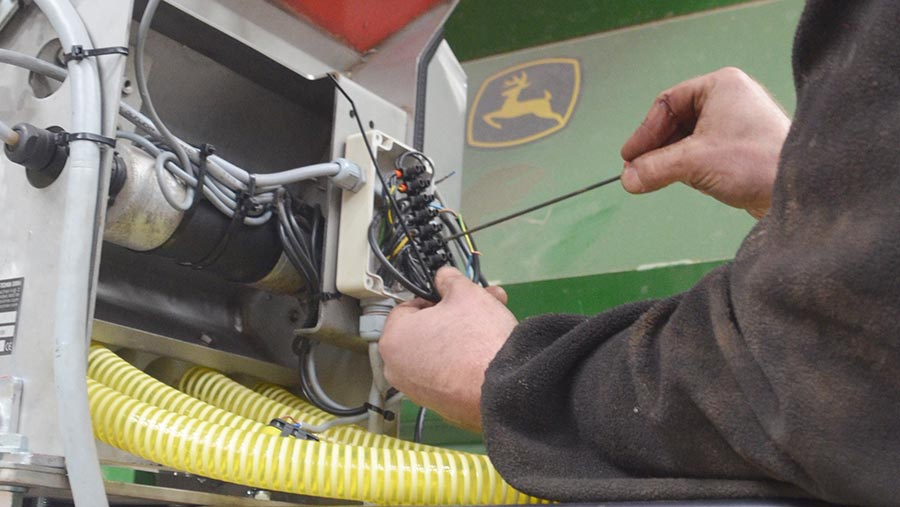 Checking the drill's wiring