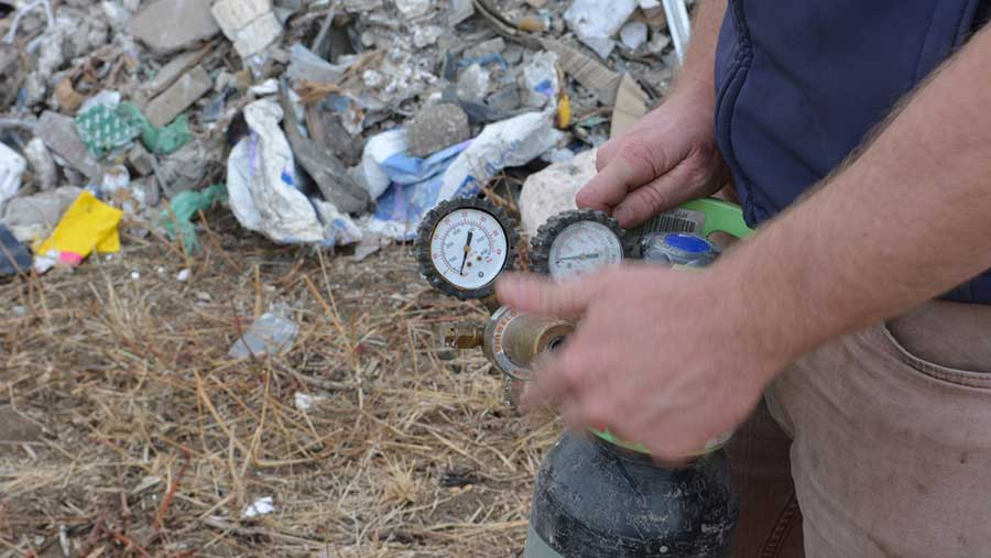 Gas canisters among cannabis farm waste dumped on farm