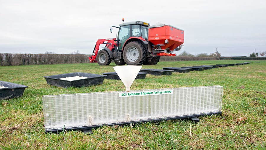 Some of the kit needed to test a spreader © Jonathan Page