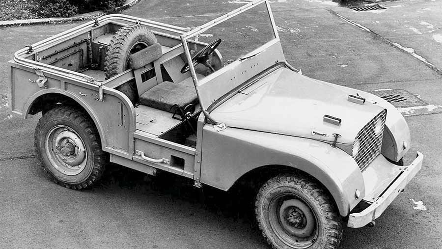 The centre-steering prototype Land Rover