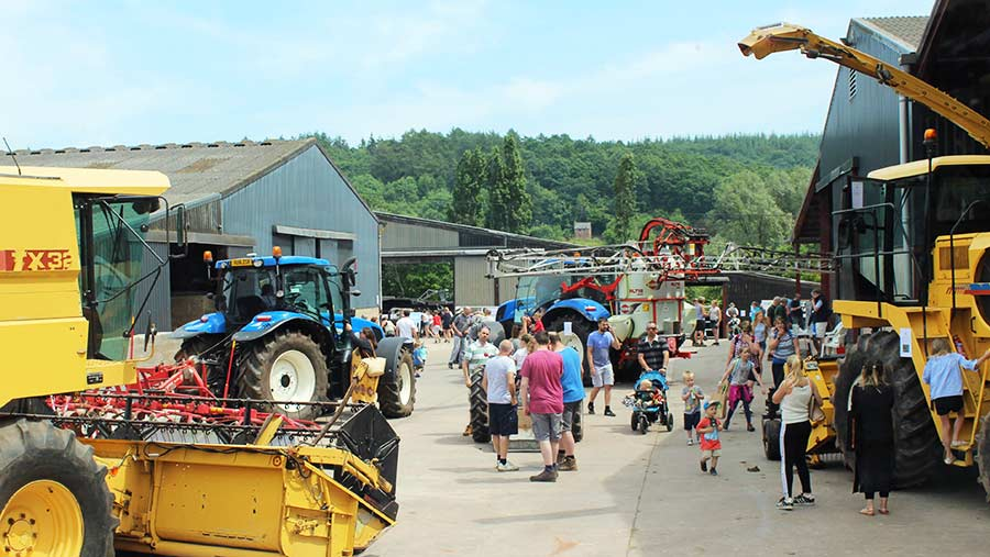 More than 1,000 people turned out at Hopes Ash Farm in Herefordshire