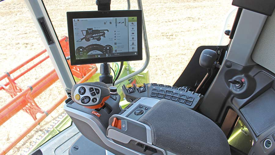 Claas Tucano cab and screen