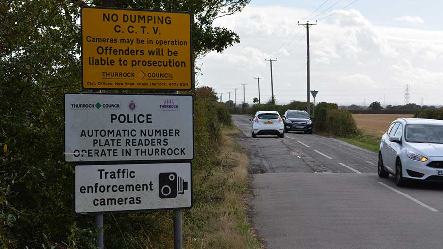 Signs en route to Essex farm targeted by fly-tippers