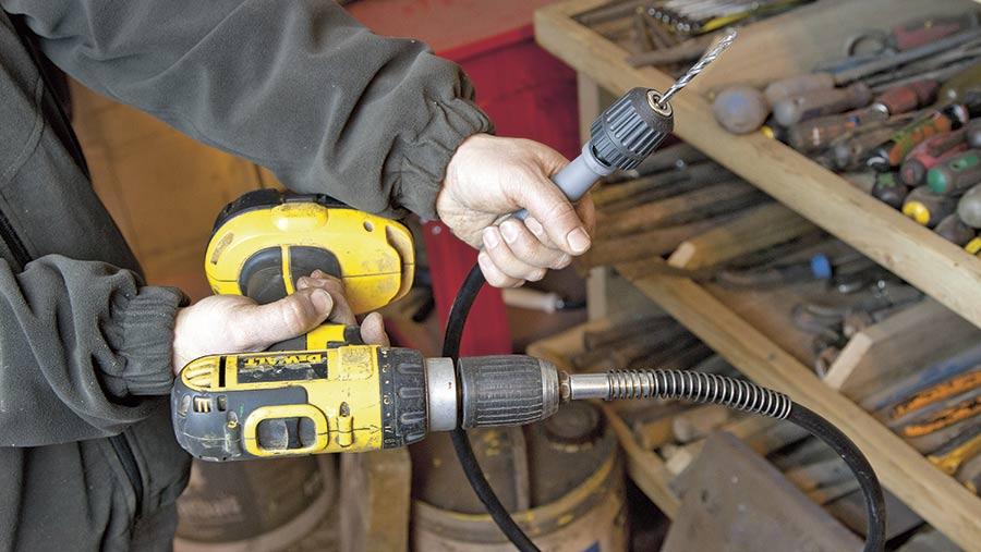 Faithfull flexible drill drive shaft