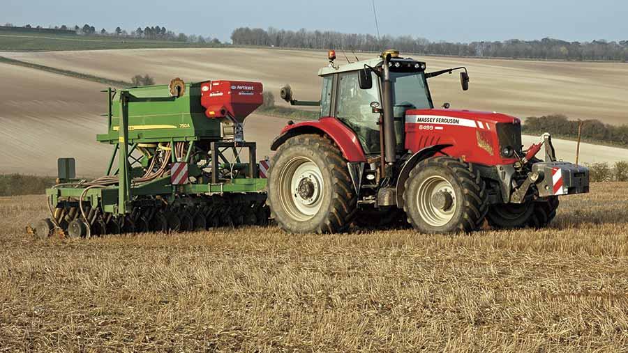 Drill in a field