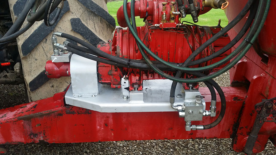 Safeshaft-drive system's makers say most tractors should be able to run it