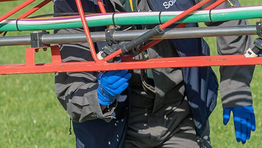 Check sprayer nozzles are aligned
