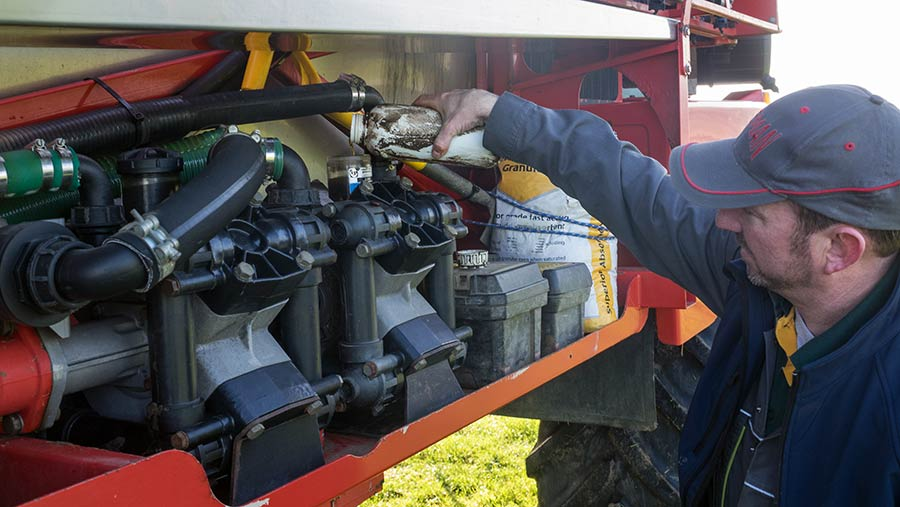 Check sprayer pumps are topped up with oil