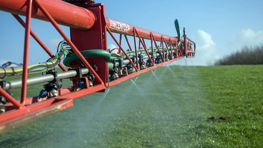 Check sprayer nozzle output