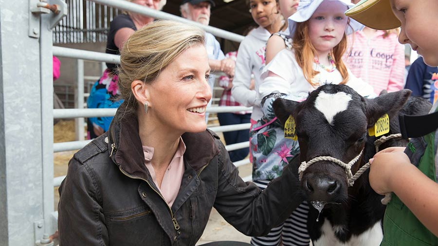 HRH Countess of Wessex visits Open Farm Sunday event © LEAF Open Farm Sunday