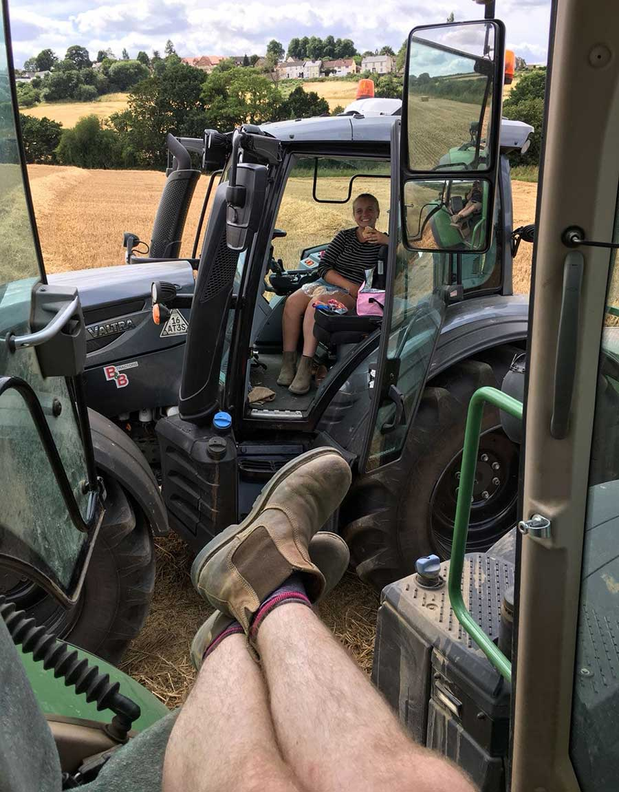 Date night with farming couple