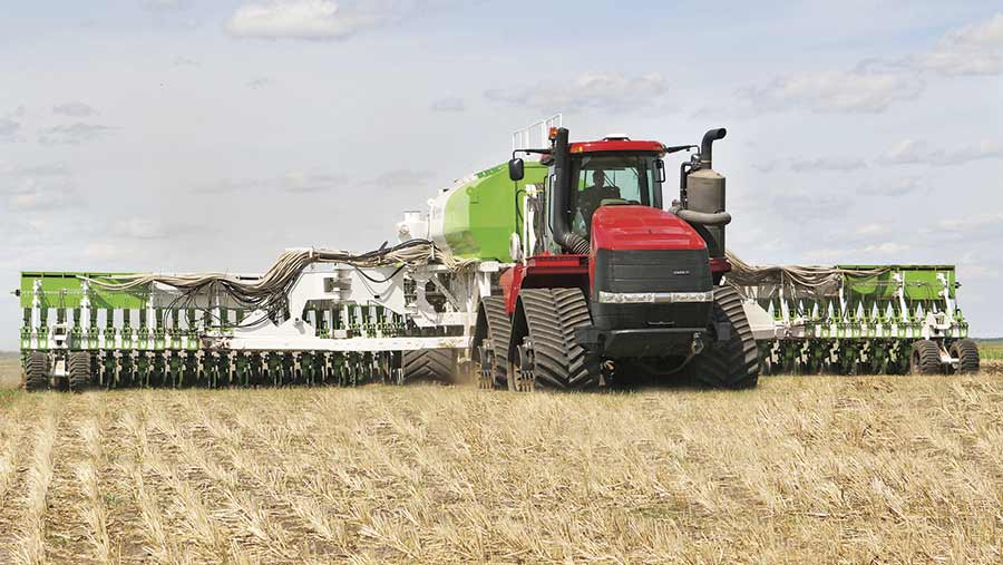The Smart Seeder in action in a field