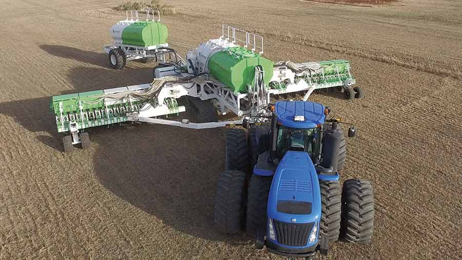 The Smart Seeder at work in a field