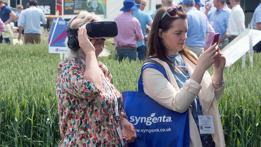A woman wearing a VR headset at Cereals © Tim Scrivener