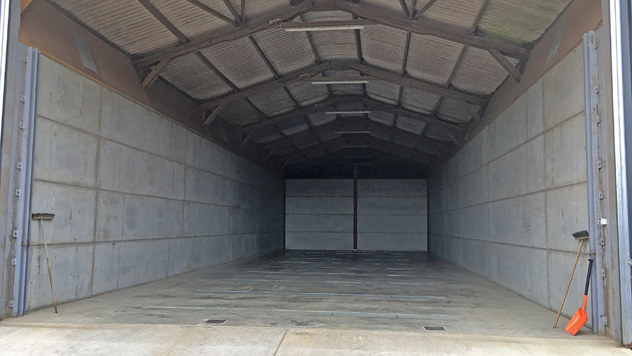 An empty barn
