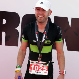 Adam Madge at a Half Ironman Event