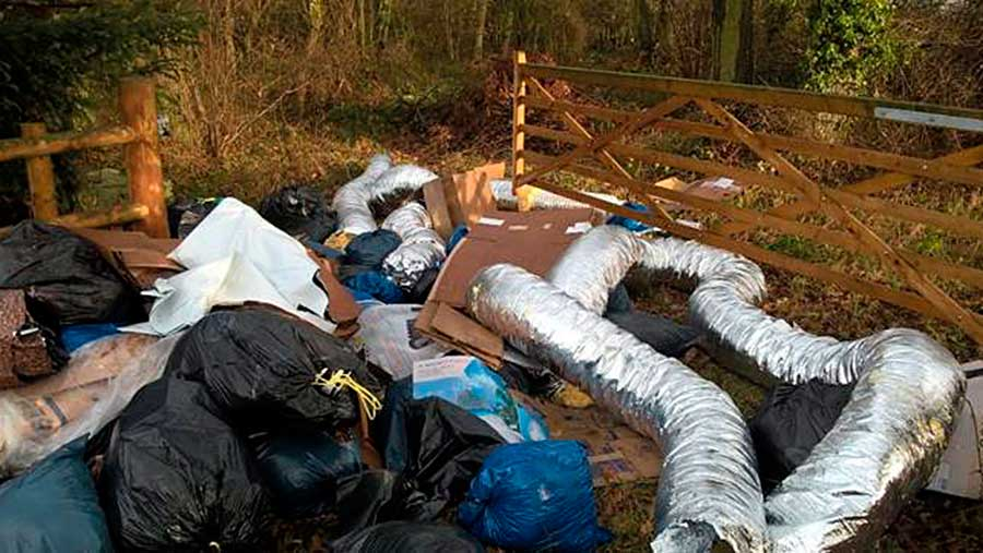 PItchford fly tipping