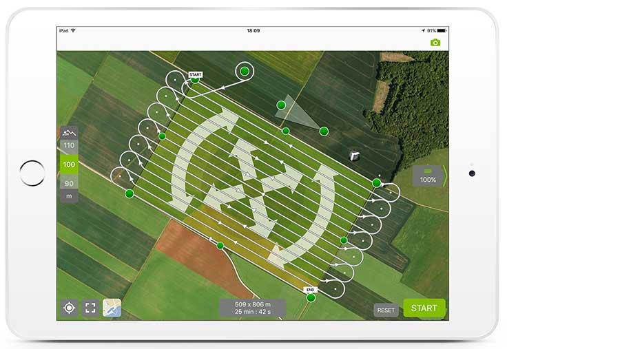 Parrot drone image capture