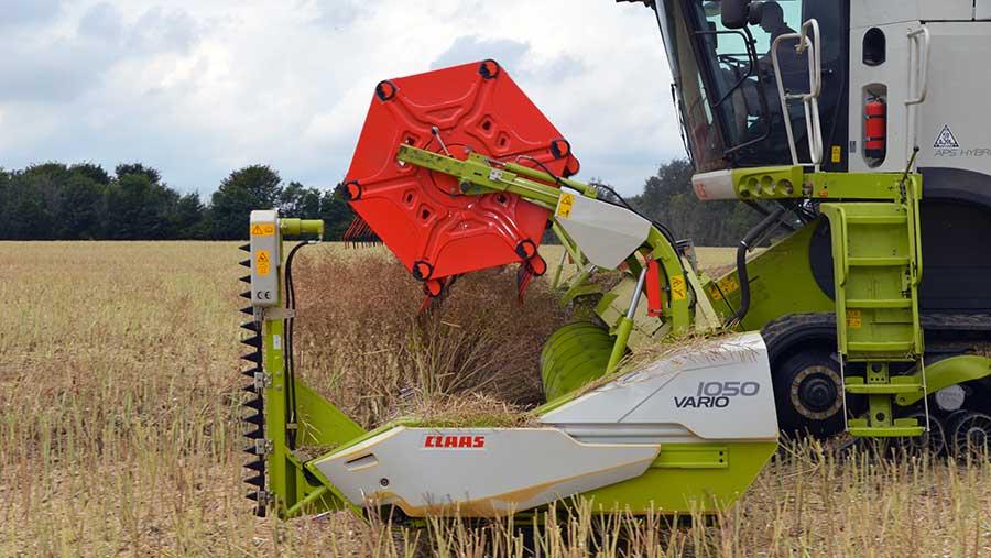 OSR harvest in Kent © David Jones/RBI