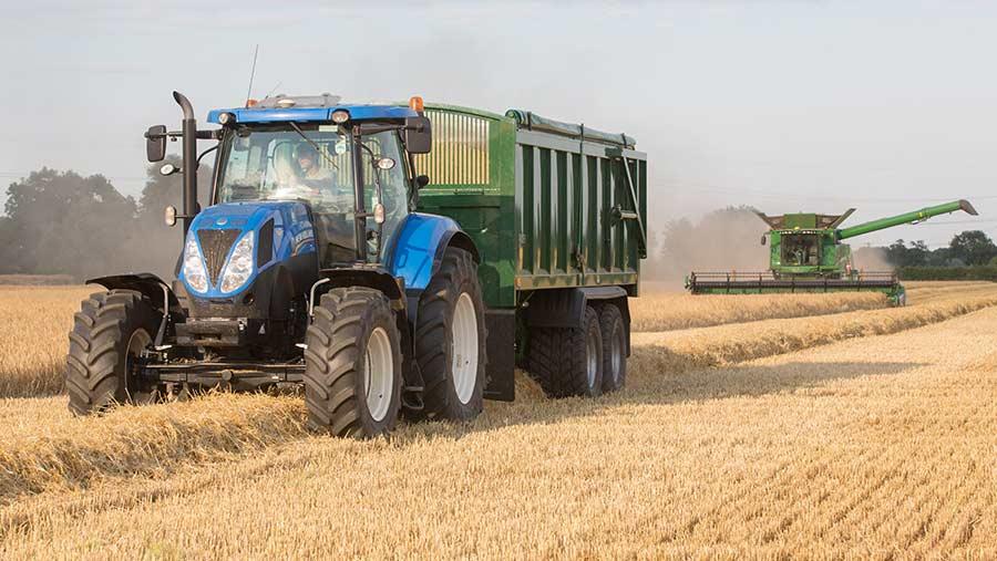 Harvest traffic compacting soil
