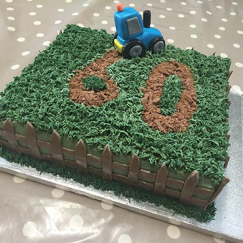 A 60th birthday cake