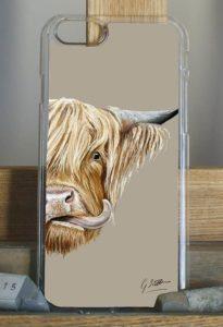 Highland cow phone case © Grace Scott