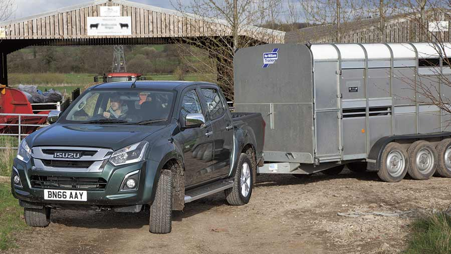Pickup and trailer