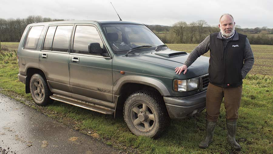 Andy Gay and his Isuzu Trooper