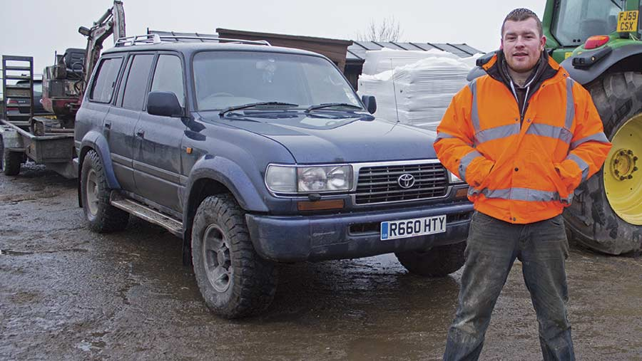 Anthony Simpson and his Toyota Land Cruiser