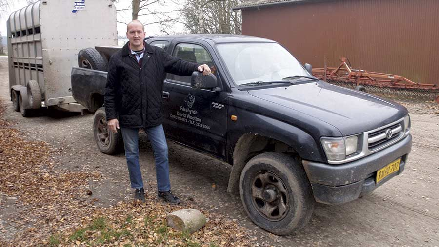 David Wootton with his Toyoya Hilux