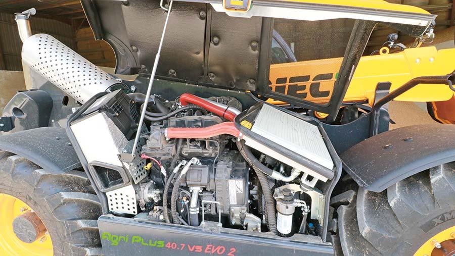 Dieci telehandler engine