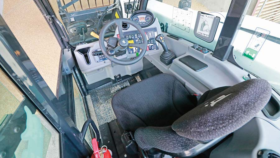 Cab of Bobcat loader